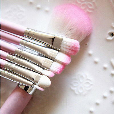 Pro Pink Make-up Brush Set Visage 7 pezzi - New in Blister!