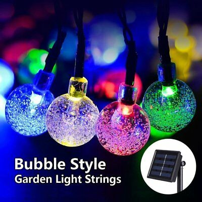 Solar Powered LED Crystal Ball For Christmas Trees Garden Fairy Party 20ft