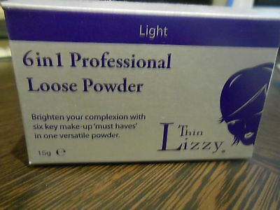 THIN LIZZY  6 in 1 Professional Loose Powder Make-up ... Light..bnib