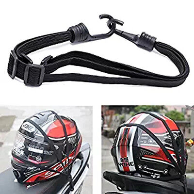 Strength Retractable Elastic Rope Strap With 2Hook For Motorcycle Helmet Luggage