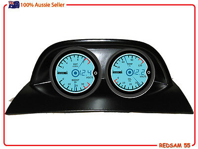 Diesel EGT, Turbo Boost, Temp, Oil Gauges 5 Function Coloured Face & Free HOLDER