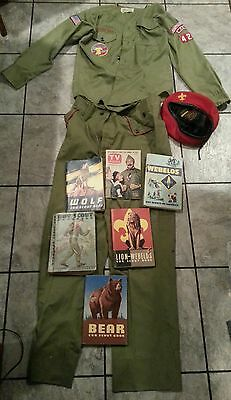 Massive Lot of BOY SCOUTS OF AMERICA UNIFORM HAT AND BOOKS! NICE!!