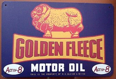GOLDEN FLEECE .  Garage Retro Vintage Metal Tin Sign  . MAN CAVE AU SELLER