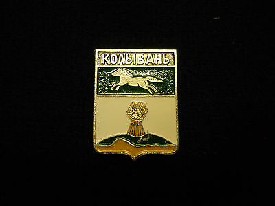 Horse Charging horse pin crest shape free shipping on 2nd pin or jewlery