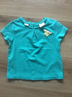 Zara Girls Summer Green Top Size 18-24 Months Vgc