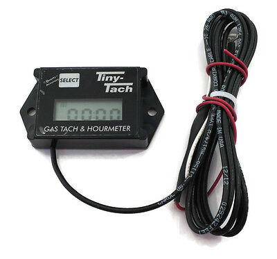 Tiny Tach TT2A Digital Hour Meter / Tachometer - Adjustable Resettable Job Timer