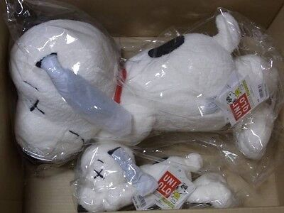 UNIQLO KAWS X PEANUTS SNOOPY S and M (L) SIZE SET PLUSH DOLL TOY