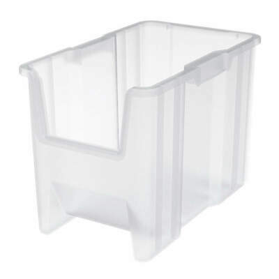 AKRO-MILS Stacking Bin,17-1/2 In. L,10-7/8 In. W, 13014SCLAR, Clear