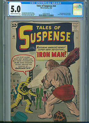 Tales of Suspense #40 (Apr 1963, Marvel) CGC 5.0 * 2nd Appearance of Iron Man *