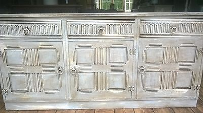 Large French grey, rustic, distressed, sideboard, dresser, cabinet, drawers