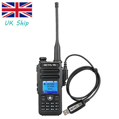 Digital Dual Band Retevis RT82 UHF+VHF DMR Ham Radio 5W 3000CH+Programming Cable