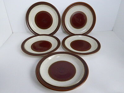 "Denby Potters Wheel 10 1/8"" Diameter Dinner Plate x 5"