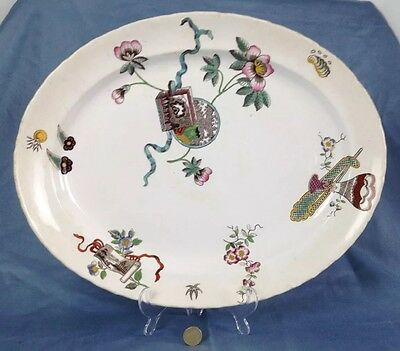 "Fabulous 18"" Large Victorian George Jones Meat Serving Plate Platter Cuba"
