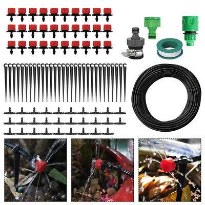 New 25M DIY Micro Drip Irrigation System Auto Plant Watering Garden Hose Kits