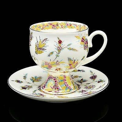 Exclusive RUSSIAN Imperial Lomonosov Porcelain Cup & Saucer Golden Branches Gold