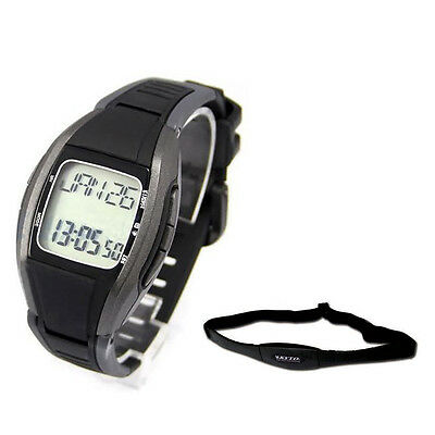 KYTO Pulse Heart Rate Monitor Calorie Counter Watch+Chest Strip Belt Fitnes V9O8