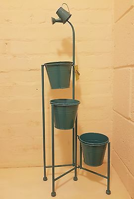 Metal Standing with hook Iron Pot Plant Stand Flower Planter 3 Style UK Sell