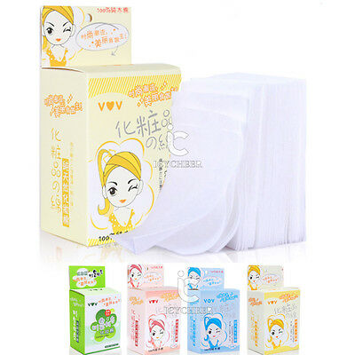 Makeup Sponge Cleaning Tools 100pcs Pure Cotton Puff Pads Facial Tissue Cosmetic