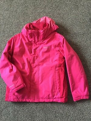 Girl's Regatta 3 in 1 Waterproof Jacket in Pink age 7-8
