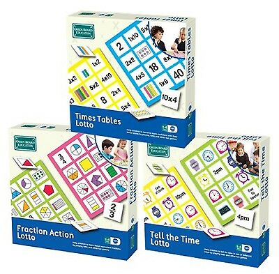 Educational Lotto Games - Times Table Fractions Time - from Green Board Games
