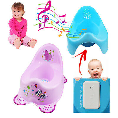 Kids Potty Musical Chair Seat Baby Toddler Toilet Training Easy Clean Boy Girl