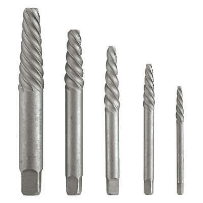 VERMONT AMERICAN High Carbon Steel Screw Extractor Set,Spiral Flute,5 Pcs, 21822