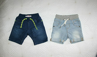 NEXT & MINOTI 2 Pair Of Baby Boy Jeans Shorts Sz 9-12 mns
