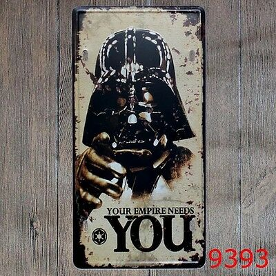Your Empire Needs You CAR PLATE Vintage Tin Sign Bar pub home Wall Decor Poster