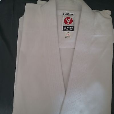 Karate Suit White Bytomic 14oz Red Dragon Japanese  cut