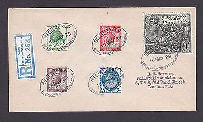 1929 Postal Union Congress:1/2d to £1.00: Registered FDC: Very Rare: FORGERY
