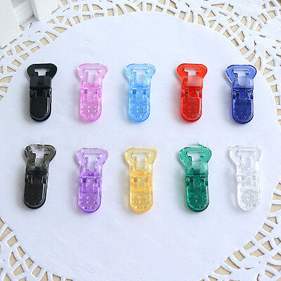 New 5 PCS Mam Pacifier Plastic Clip - T-Clip Style for 10 mm Ribbon  Crafts