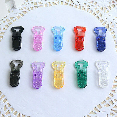 New 5PC Mam Pacifier Plastic Clip - T-Clip Style for 10mm Ribbon