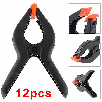 12x Plastic Coil Spring Clamps 150mm / 6inch Jaw Capacity Market Stall Clip