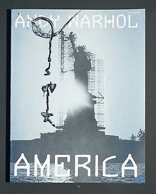 """Andy Warhol """"America""""  signed book 1985 1st edition"""