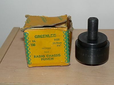 """GREENLEE RADIO CHASSIS PUNCH 2-1/8"""" w/Box"""
