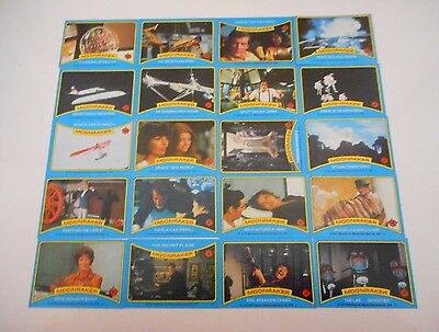 *20 x JAMES BOND 007 MOONRAKER TRADING CARDS 1979-FREE POST*
