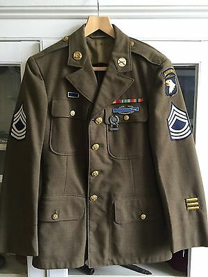 WW2 US Enlisted Mans Class A 4 pocket Tunic & Trousers ORIGINAL