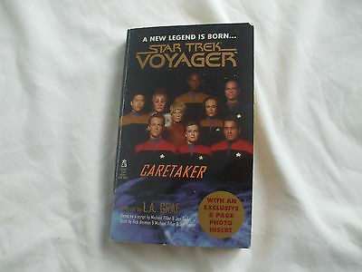 Softcover paperback book Star Trek Voyager  caretaker exclusive 8 page photos