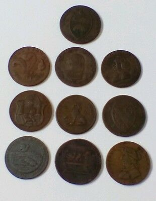 Job Lot 18th Century Tokens