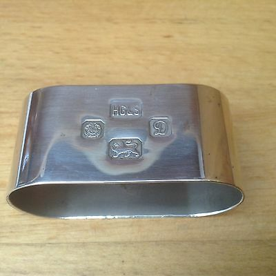 Solid Sterling Silver Sheffield 1978 Oval Napkin Ring