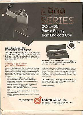 E900 series DC to DC Power supply from Endicott coil for Alphanumeric matrix dis