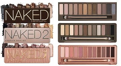 Naked Palette 1 2 3 - Eye Shadow - All 3 Included - BRAND NEW & SEALED