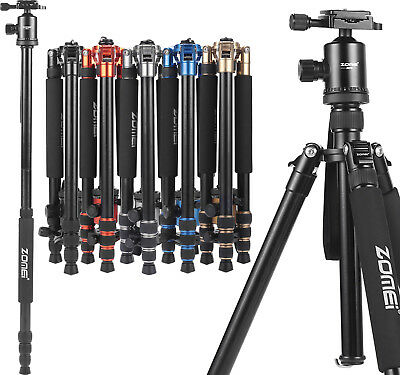 ZOMEI Pro Aluminum Travel Tripod Monopod Ball Head Portable for DSLR Camera