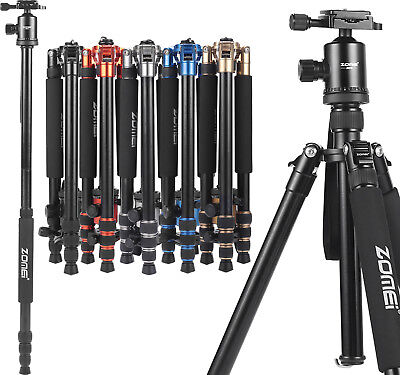 ZOMEI Z818 Pro Aluminum Travel Tripod Monopod&Ball Head Portable for DSLR Camera