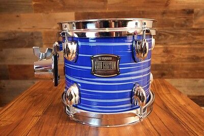 "RARE YAMAHA Club Custom 8"" x 7"" Tom Drum Blue Swiirl MINT"