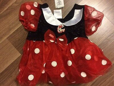 Disney Store Minnie Mouse Costume Dress 12 - 18 months NEW With Tags Vintage