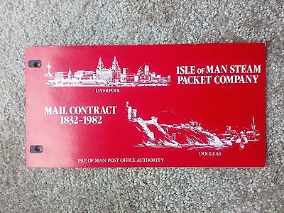 Isle Of Man...steam packet co.   mail contract...1982...presentation pack