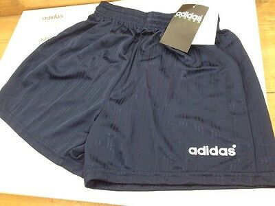 "Vintage 1980s 90s ADIDAS Football Soccer SHORTS Glanz PE Blue BNWT 36"" Large D7"