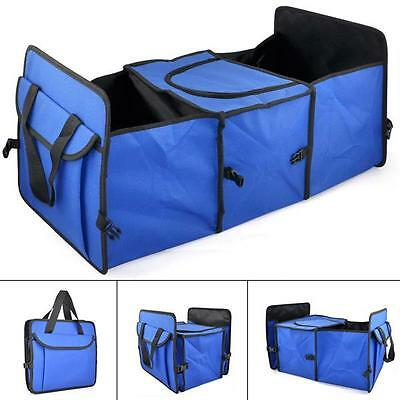 2-in-1 Car Boot Organiser Shopping Tidy Heavy Duty Foldable Collapsible Storage