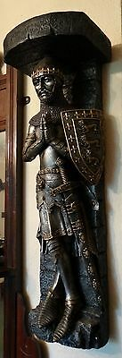 Super Rare Nemesis Now Praying Medieval Knight With Sheild Large Wall Shelf